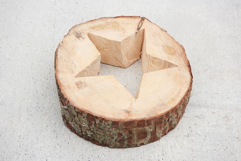 Holzschmuck Stern